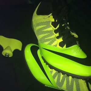 8 1/2 Neon green Nike Track spikes